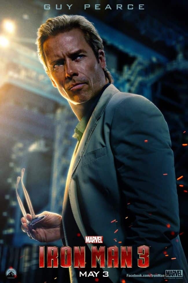 Guy Pearce Iron Man 3 Poster