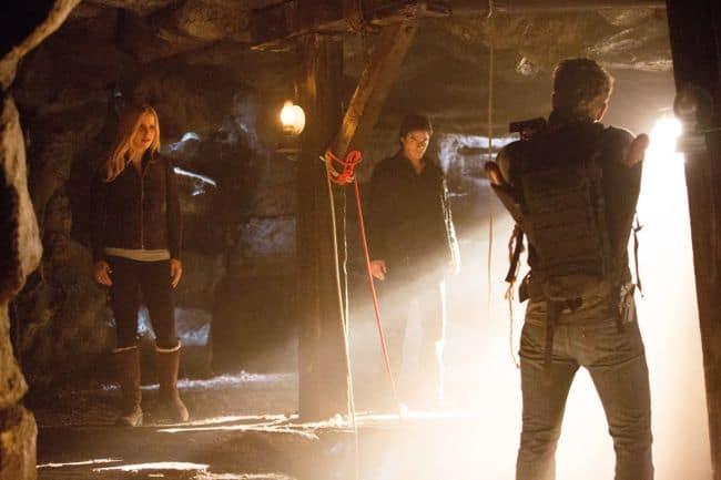 Claire Holt as Rebekah, Ian Somerhalder as Damon, and Charlie Bewley as Vaughn The Vampire Diaries