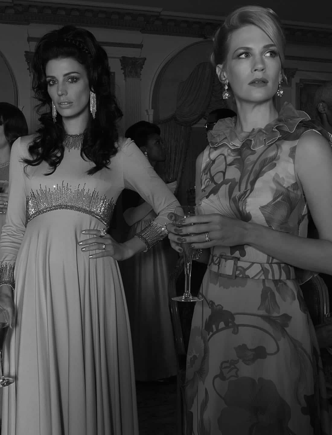 Megan Draper (Jessica Pare) and Betty Francis (January Jones) - Mad Men_Season 6, Gallery - Photo Credit: Frank Ockenfels/AMC
