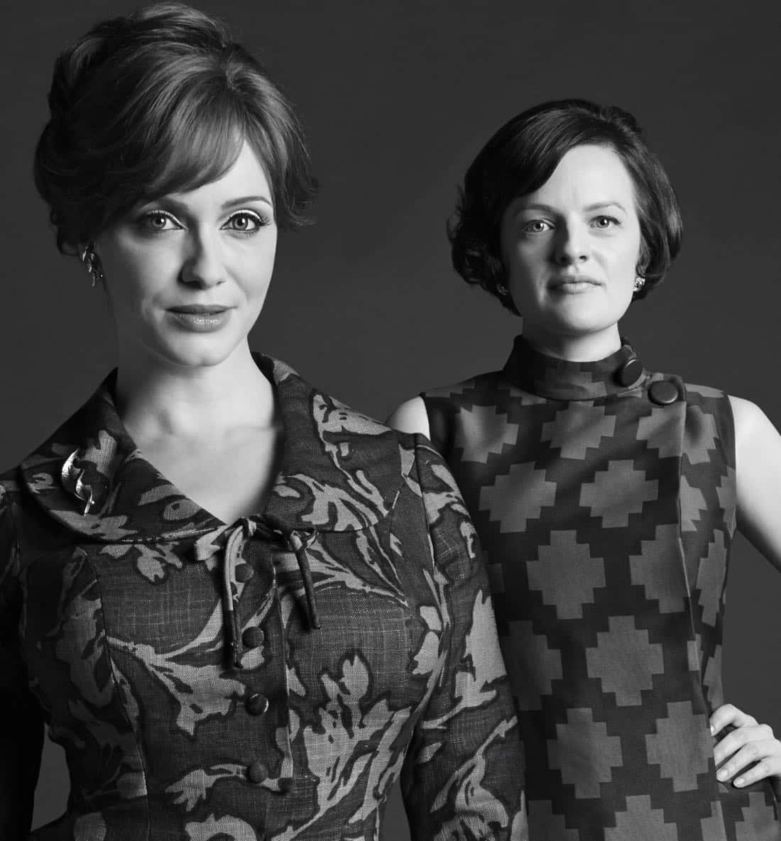 Joan Harris (Christina Hendricks) and Peggy Olson (Elisabeth Moss) - Mad Men_Season 6, Gallery - Photo Credit: Frank Ockenfels/AMC