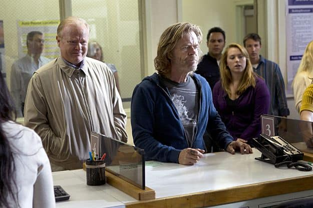 Christian Clemenson as Christopher and William H. Macy as Frank Gallagher in Shameless