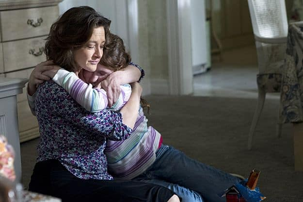 Joan Cusack as Sheila and Emma Kenney as Debbie Gallagher in Shameless