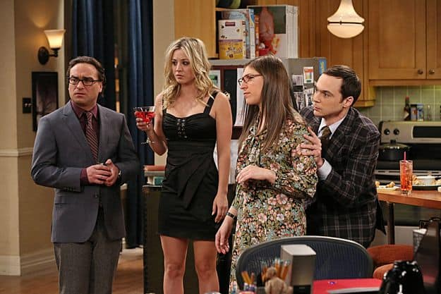 Johnny Galecki, Kaley Cuoco, Mayim Bialik and Jim Parsons
