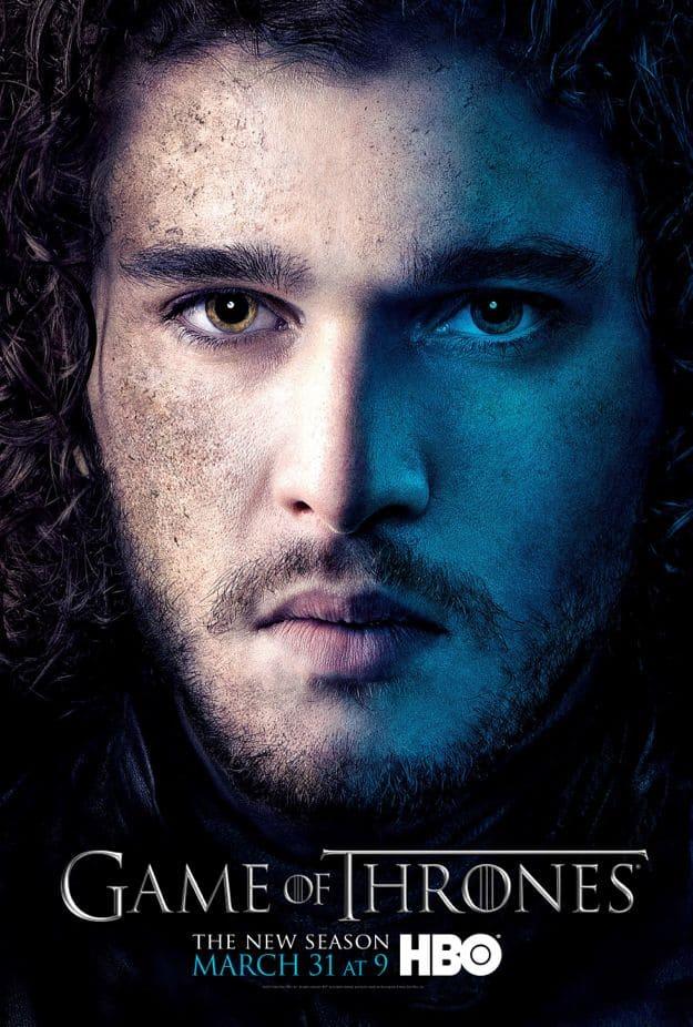 Jon Snow Game Of Thrones Season 3 Poster