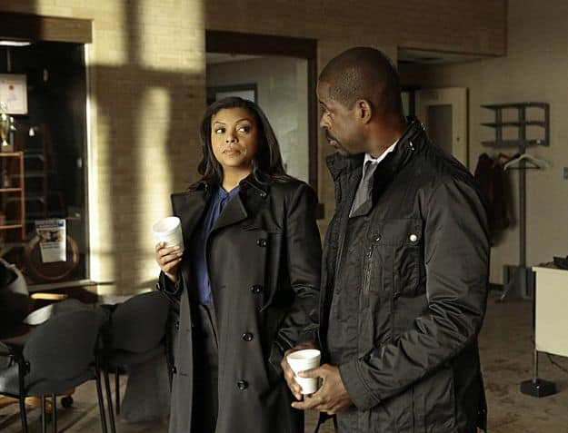 Det. Carter (Taraji P. Henson, left) shares a conversation with Det. Beecher (Sterling K. Brown, right)