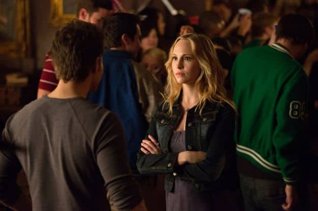 Paul Wesley as Stefan and Candice Accola as Caroline