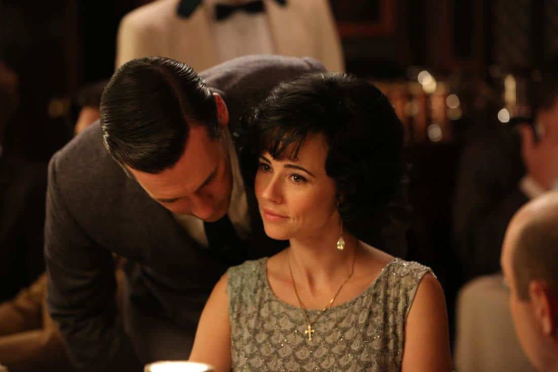 "Don Draper (John Hamm) and Sylvia Rosen (Linda Cardellini) - Mad Men_Season 6, Episode 3_""The Collaborators"" - Photo Credit: Michael Yarish/AMC"
