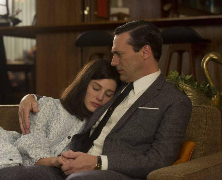 "Megan Draper (Jessica Paré), Don Draper (John Hamm) - Mad Men_Season 6, Episode 3_""The Collaborators"" - Photo Credit: Ron Jaffe/AMC"