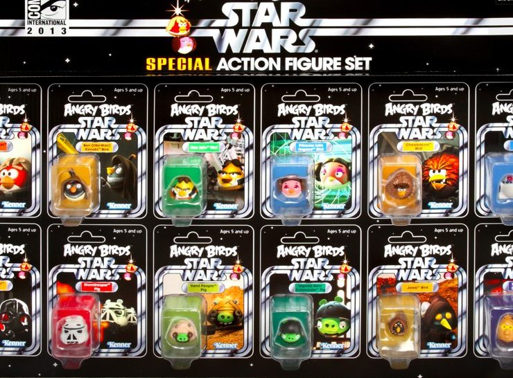 ANGRY BIRDS STAR WARS Comic Con Action Figures