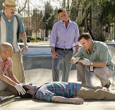 David Zayas as Angel Batista, Desmond Harrington as Joey Quinn, C.S. Lee as Vince Masuka and Michael C. Hall as Dexter Morgan in Dexter