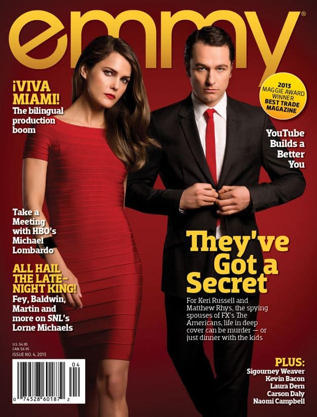 Matthew Rhys And Keri Russell Emmy Magazine Cover