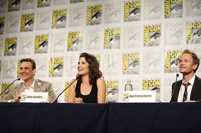 HOW I MET YOUR MOTHER Comic Con Jason Segel, Cobie Smulders, and Neil Patrick Harris