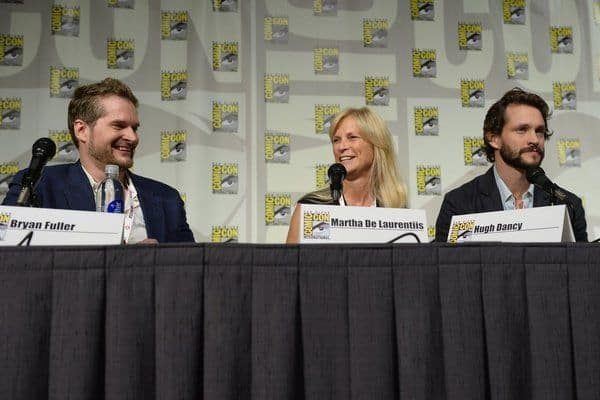 Hannibal Comic Con Bryan Fuller, Martha DeLaurentiis, Hugh Darcy