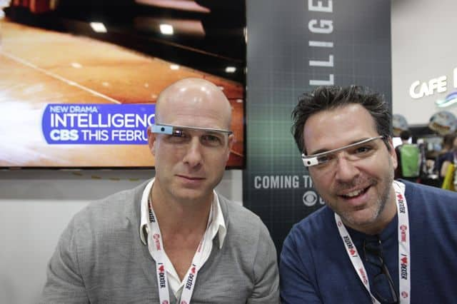 Tripp Vinson and Michael Seitzman during the Intelligence Booth Signing at COMIC - CON 2013, held in San Diego, Ca.