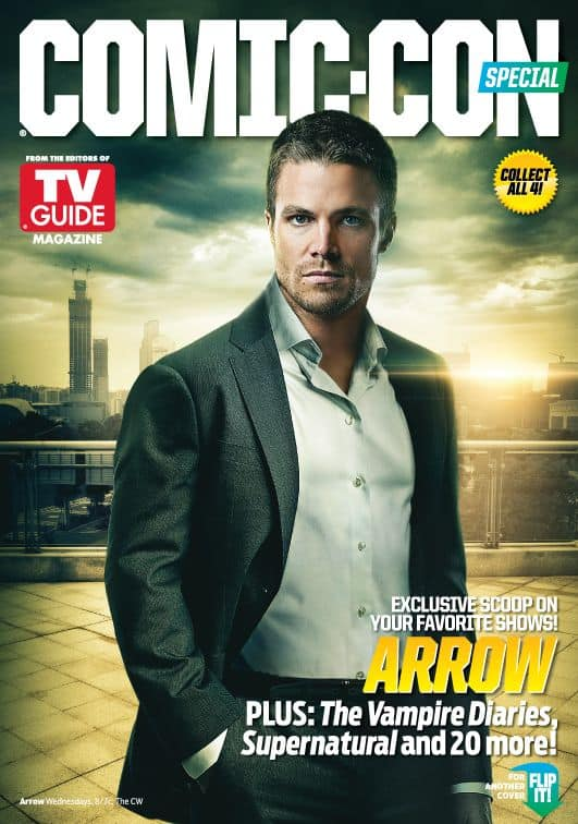 Arrow Stephen Amell Comic Con TV Guide Cover