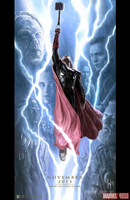 THOR THE DARK WORLD Comic Con Poster