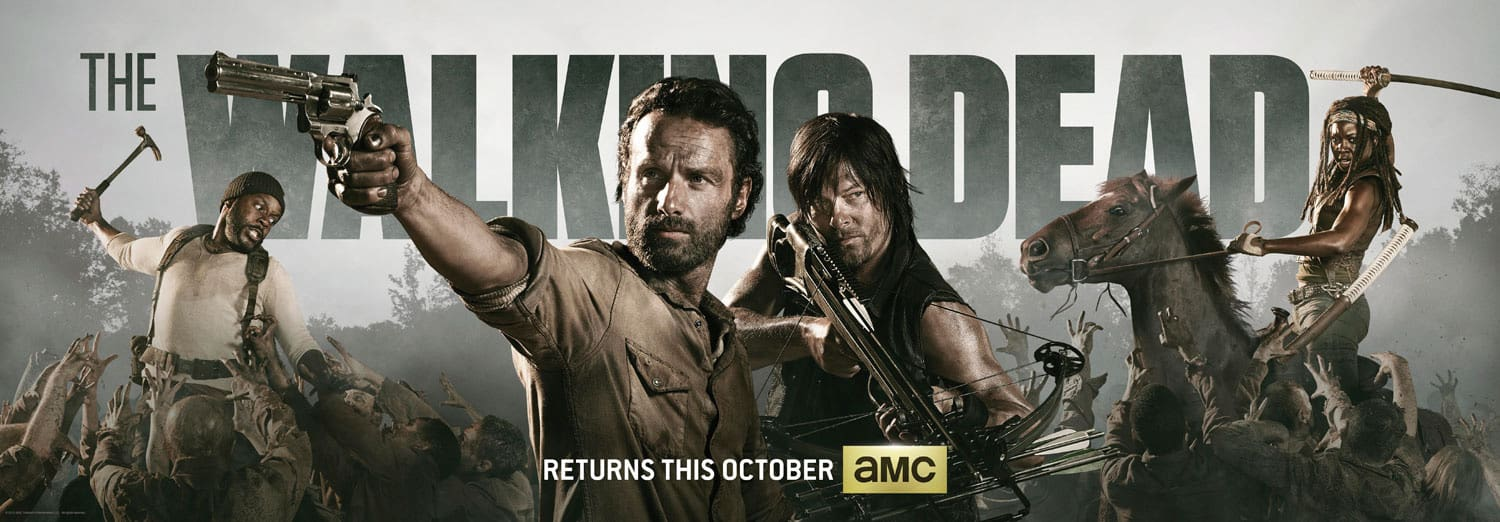 The Walking Dead Comic Con Poster 2013