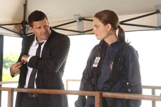 Bones Brennan Emily Deschanel and Booth David Boreanaz