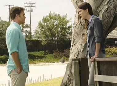 Michael C. Hall as Dexter Morgan and Jennifer Carpenter as Debra Morgan in Dexter (Season 8, episode 10)