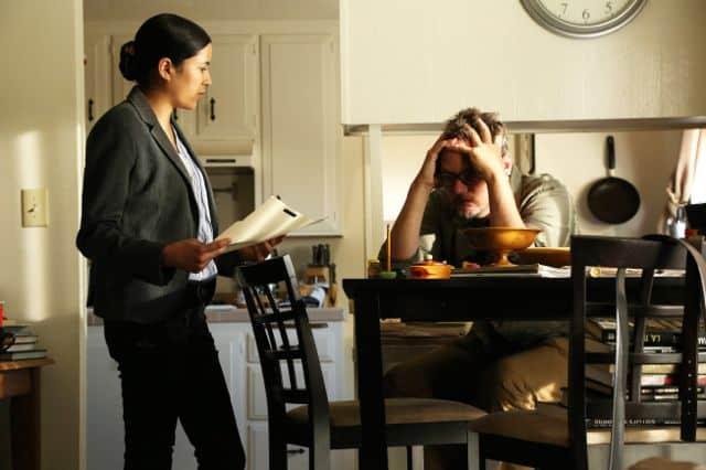 Emily Rios as Adriana Mendez, Matthew Lillard as Daniel Frye The Bridge Season 1 Episode 6 ID