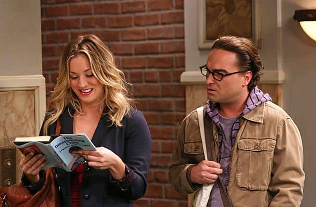 Leonard (Johnny Galecki, right) discovers a way to get Penny (Kaley Cuoco, left) to do anything The Raiders Minimization