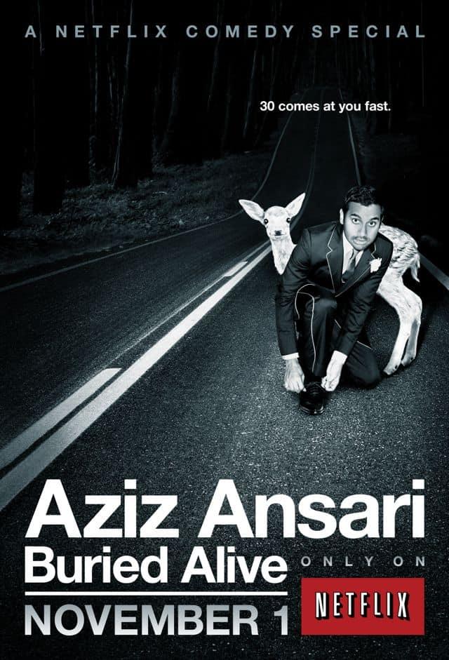 AZIZ ANSARI BURIED ALIVE Poster