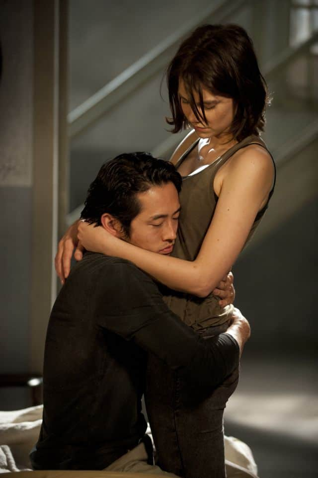 Glenn (Steven Yeun) and Maggie Greene (Lauren Cohan) The Walking Dead