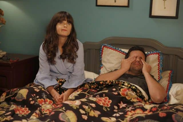 NEW GIRL: Jess (Zooey Deschanel, L) and Nick (Jake Johnson, R) are both secretly fearful that their relationship could fall apart
