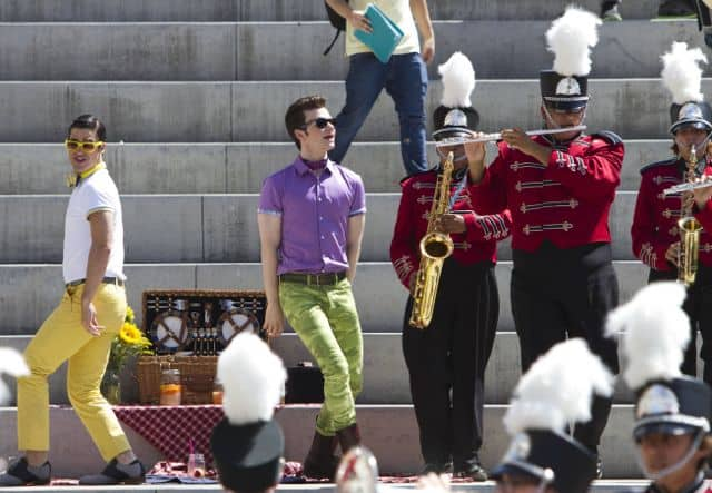 Blaine Darren Criss and Kurt Chris Colfer Glee Season 5 Episode 1