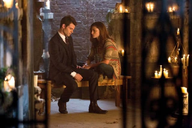 Daniel Gillies as Elijah and Phoebe Tonkin as Hayley Always and Forever
