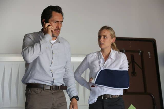 THE BRIDGE Diane Kruger as Sonya Cross, Demian Bichir as Marco Ruiz