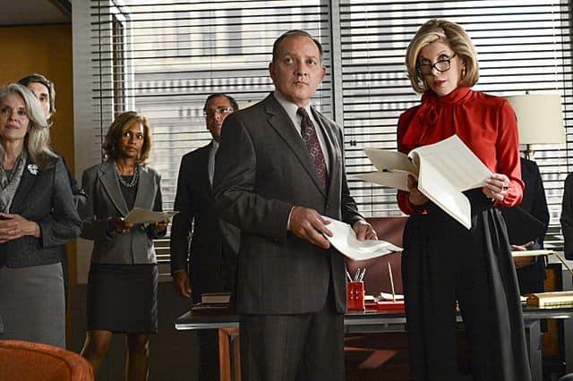 David Lee (Zach Grenier) and Diane (Christine Baranski) The Good Wife Season 5