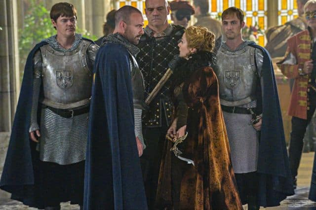 Alan Van Sprang as King Henry and Megan Follows as Queen Catherine Reign Hearts and Minds