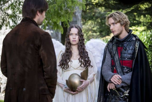 Torrance Coombs as Bash, Anna Popplewell as Lola and Toby Regbo as Prince Francis Reign Hearts and Minds