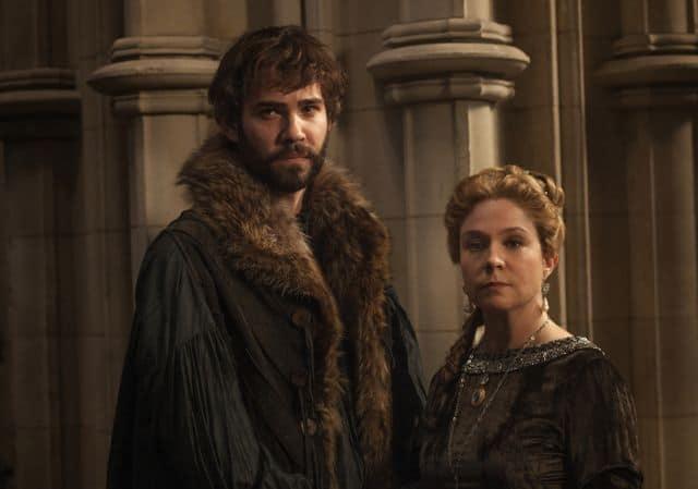 Rossif Sutherland as Nostradamus and Megan Follows as Catherine de'Medici Reign