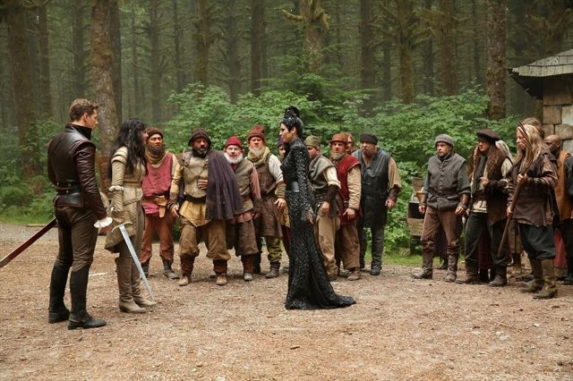 JOSH DALLAS, GINNIFER GOODWIN, MIG MACARIO, LEE ARENBERG, DAVID-PAUL GROVE, MICHAEL COLEMAN, JEFFREY KAISER (OBSCURED), LANA PARRILLA, GABE KHOUTH (OBSCURED), FAUSTINO DI BAUDA