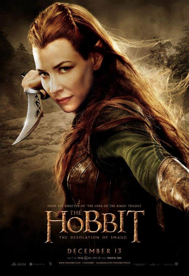 Evangeline Lilly The Hobbit The Desolation Of Smaug Poster