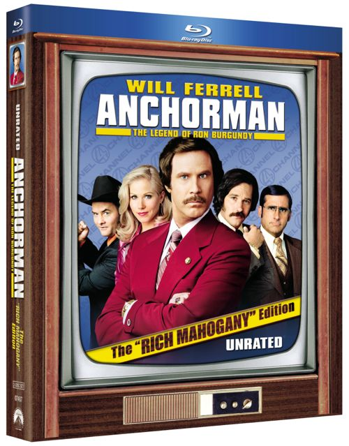 ANCHORMAN THE LEGEND OF RON BURGUNDY Rich Mahogany Edition Bluray