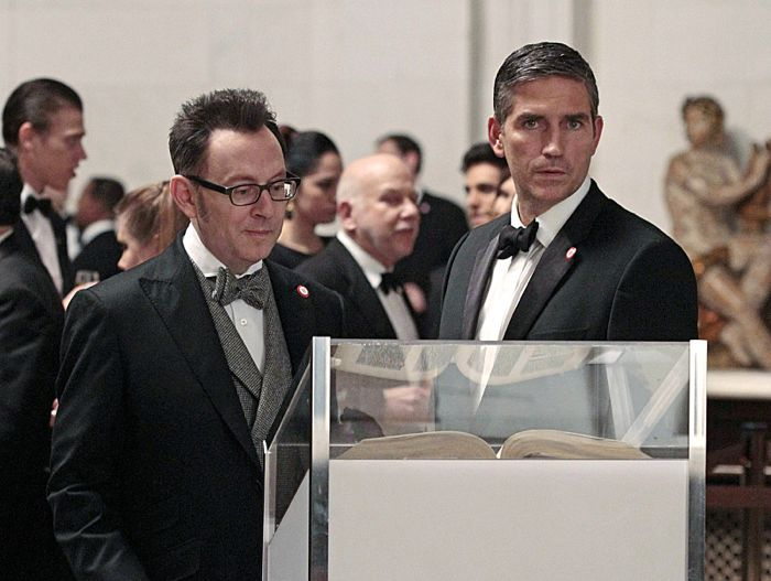 Reese (Jim Caviezel, right) rejoins Finch (Michael Emerson, left) Person Of Interest