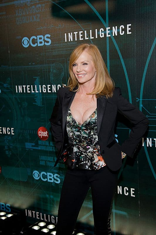 Marg Helgenberger attends CNET's premiere Party for the new CBS Drama series Intelligence