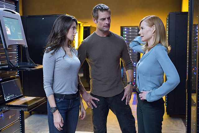 Meghan Ory Josh Holloway and Marg Helgenberger Athens Intelligence