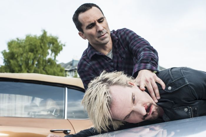 Nestor Carbonell and Michael Eklund star in A&E's Bates Motel