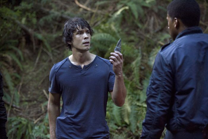 The 100 Bob Morley as Bellamy and Eli Goree as Wells