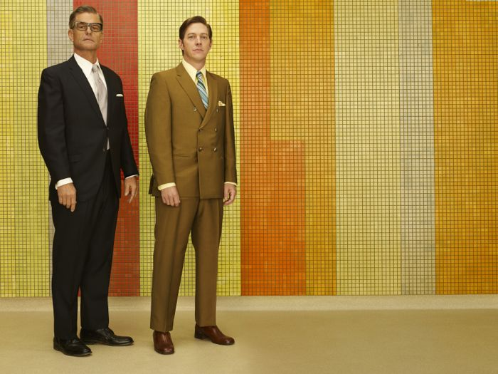 Jim Jim Cutler (Harry Hamlin) and Ted Chaough (Kevin Rahm) Mad Men Season 7