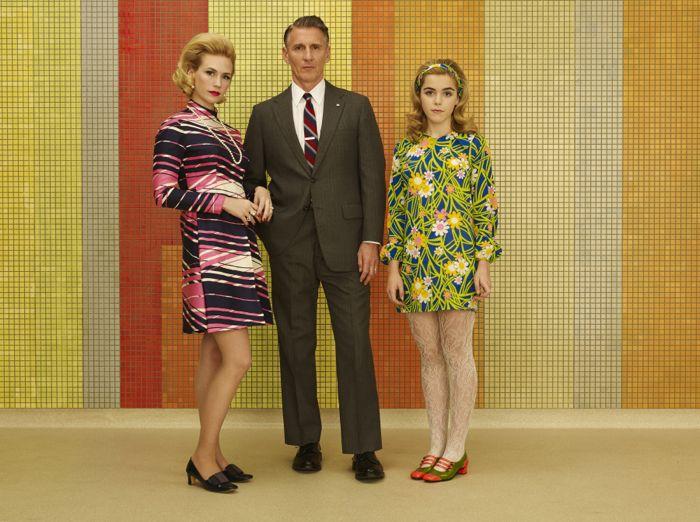 Betty Francis (January Jones), Henry Francis (Christopher Stanley) and Sally Draper (Kiernan Shipka) Mad Men Season 7