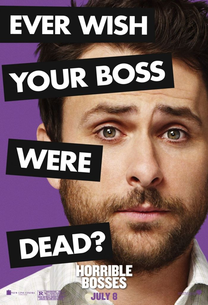 Horrible Bosses Movie Poster Charlie Day