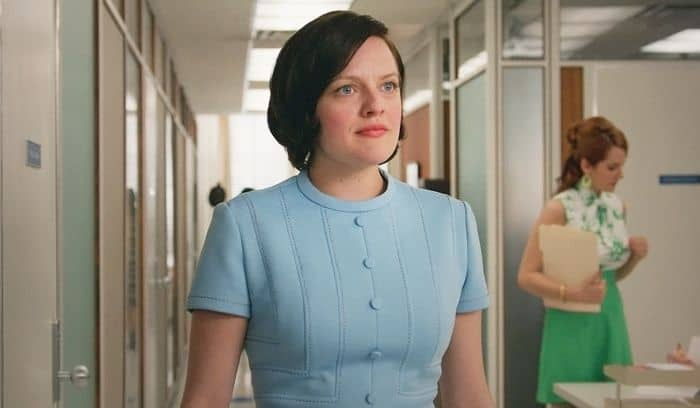 Elisabeth Moss as Peggy Olson Mad Men