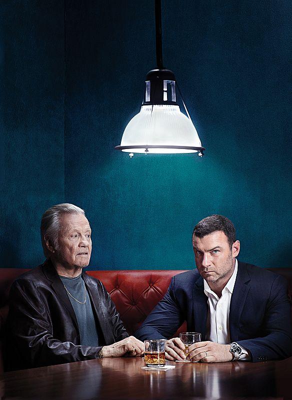 Jon Voight as Mickey Donovan and Liev Schreiber as Ray Donovan in Ray Donovan (Season 2,