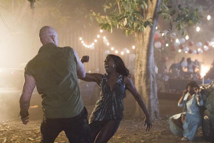 True Blood 7x01 Derek Mears, Rutina Wesley and Adina Porter
