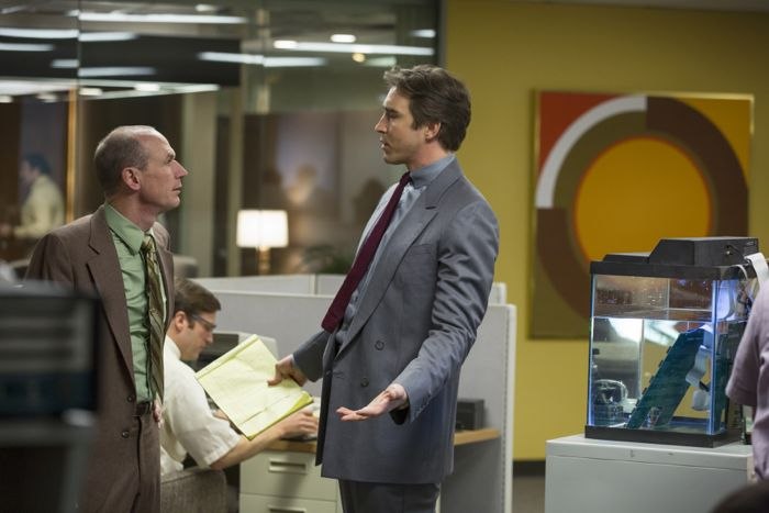 HALT AND CATCH FIRE Season 1 Episode 4 Photos Close to the Metal Toby Huss as John Bosworth and Lee Pace as Joe MacMillan
